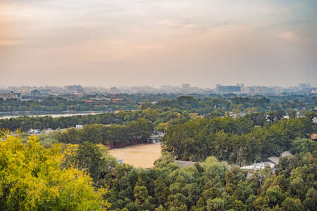 View of the city of Beijing from a height. China