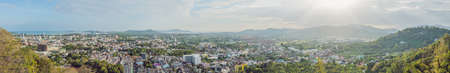 High view from Phuket View Point Rang Hill in Phuket Thailand Stock Photo