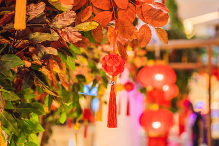 Chinese red lanterns for the Chinese New Year
