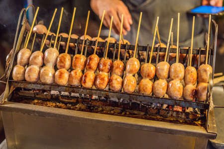 Food on Walking street Asian food market Stock fotó