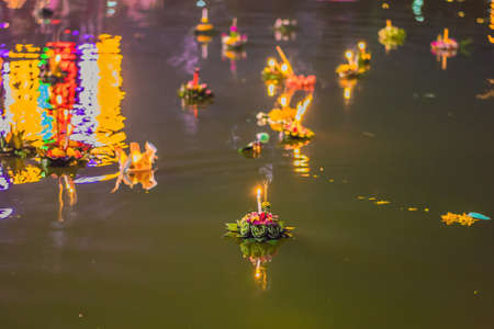 Flowers to celebrate the Loy Krathong festival in Thailand
