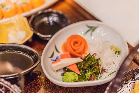 Japanese bento set. Food at a Japanese restaurant Banque d'images