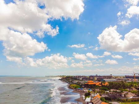 Rock on Batu Balong beach, the world famous surf hot spot on Bali 版權商用圖片