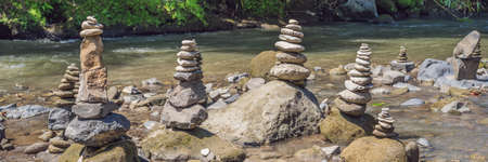 Inuksuk Native Rock Pile in a Creek