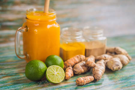 Drink Jamu. Indonesian traditional drink in bali