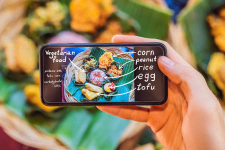 Food app. A phone application that defines food and the benefits of food