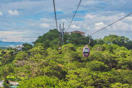 Dalat Cable Car at Robin Hill, Truc Lam. Vietnam