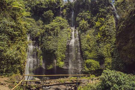 bali, fiji waterfall from the sekumbul waterfalls, indonesia, asia Фото со стока - 131200164
