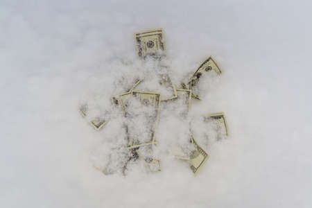 the concept of the dollar frozen at one point, 100 dollars froze.