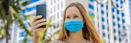 Face Recognition In Medical Mask Using Artificial Intelligence And Neural Networks. Biometric scanning Face ID. Identification of Person Through System Of Recognition.