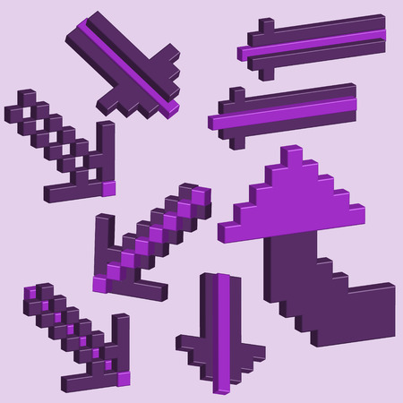 pixels: 3D arrows of pixels