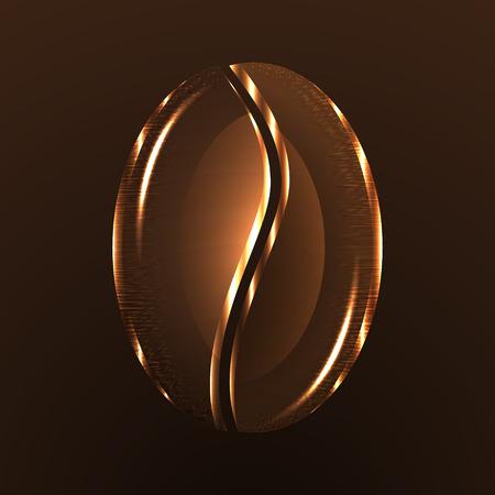 grano de cafe: Antecedentes de grano de café. Vector de diseño. Vectores