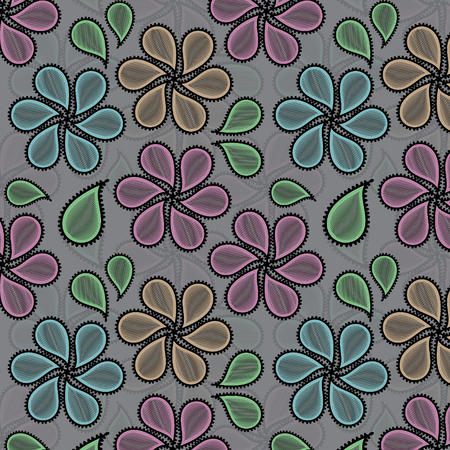 Colorful paisley vector pattern for you design Vector