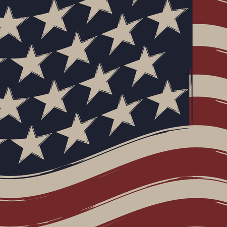 American Flag, Independence Day. Vector for you design. Vector