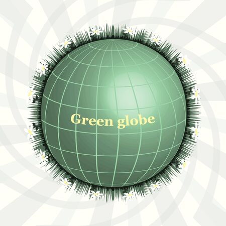 pure: Ggreen Planet, Green Globe, Eco design, Pure Land. Abctract design. Illustration