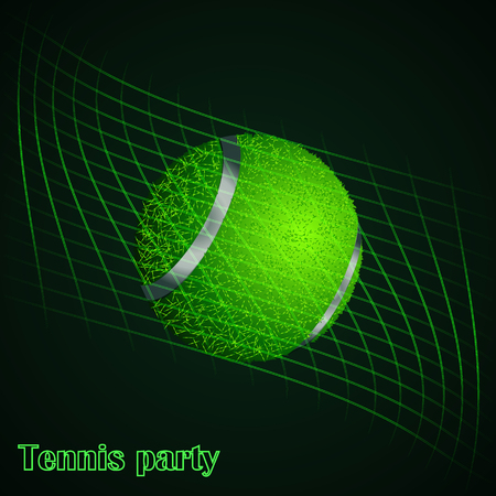 Abstract background of tennis ball