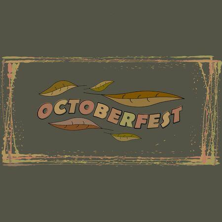 Vector logo for Oktoberfest, Beer Festival, ideas for design