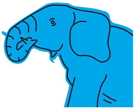 blue elephant icon