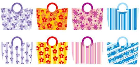 colourful summer handbags Illustration