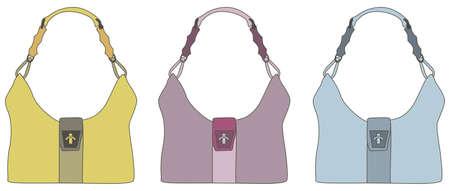 leather handbags Stock Vector - 2591377
