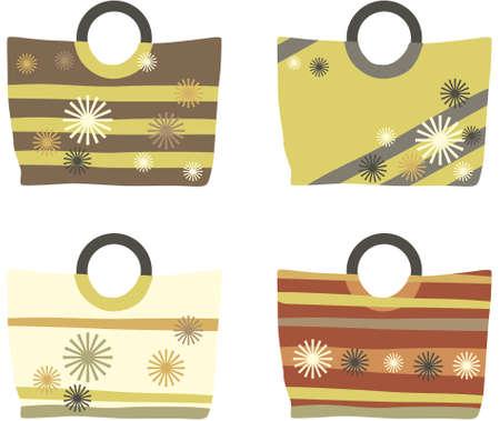 pastel summer handbags Illustration