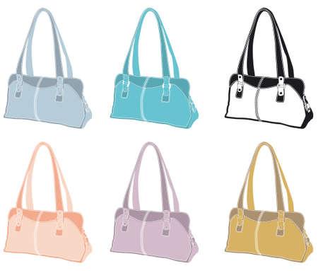 pastel leather handbags