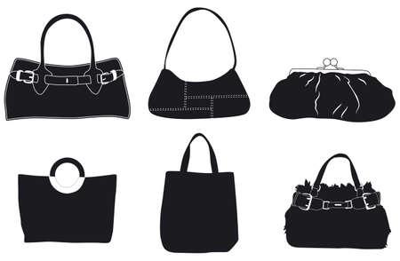 leather handbags slihouettes