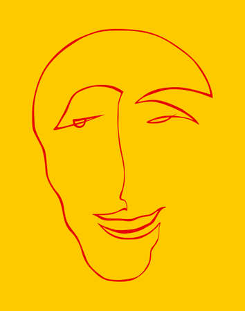 a happy human face Illustration