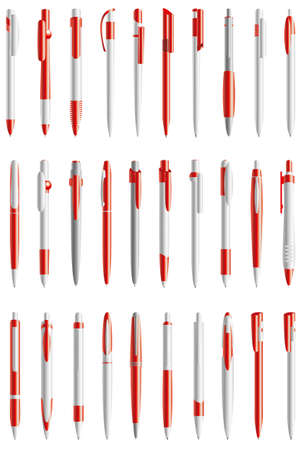red vector pens