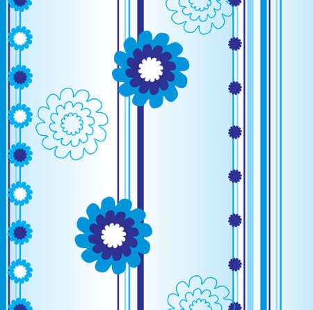 vector  pattern with blue flowers