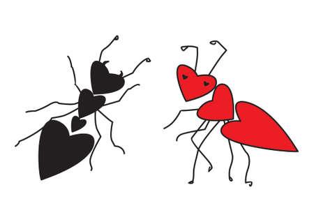 ants in love Vector