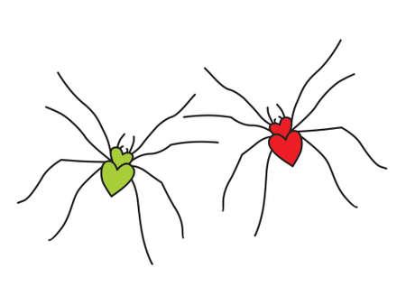 spiders in love Stock Vector - 4201864