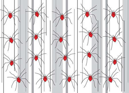 spiders in love Stock Vector - 4201867