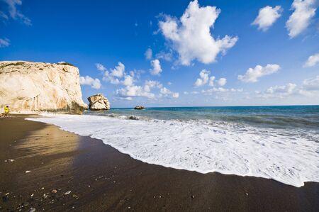 afrodita: Lugar de nacimiento de Afrodita en Chipre  Foto de archivo