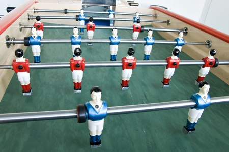 table soccer football game photo