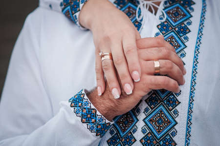 Couple of married holding hands