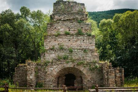 blast furnace ruins in ukraine