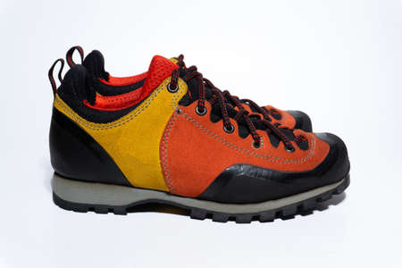 Trekking women's hiking shoes. Shoes for tourism and travel
