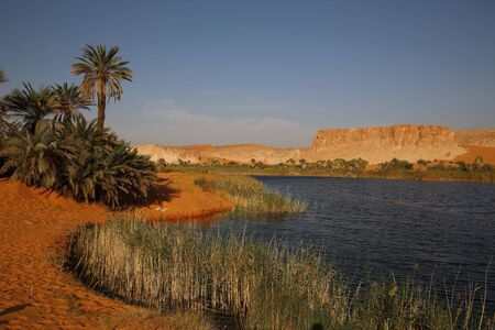 View to Boukkou lake group of Ounianga Serir lakes , Ennedi, Chad