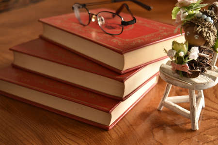 iron fun: Book with a red cover with glass