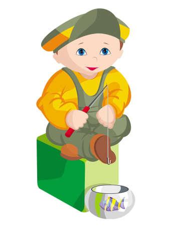 The child - fisherman