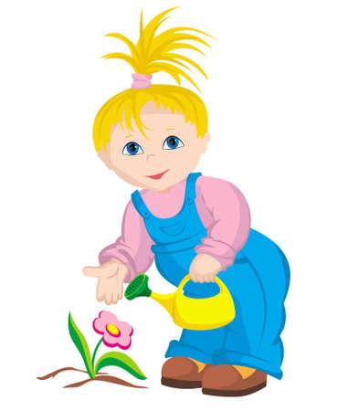 The child - gardener