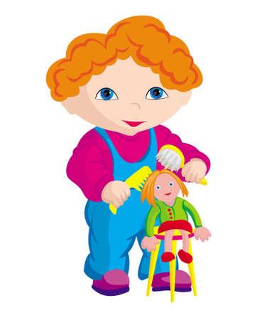 The child - hairdresser
