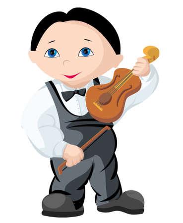 The child - musician Иллюстрация