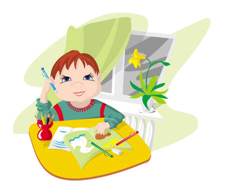 The child engaged in preparation for lessons, employment(occupations) at school