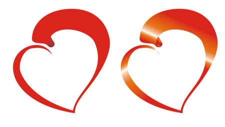 twirled: Nastro girava nel cuore