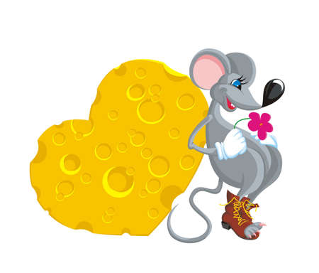 The mouse in expectation the girlfriend