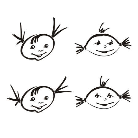 The smiling childrens persons Illustration