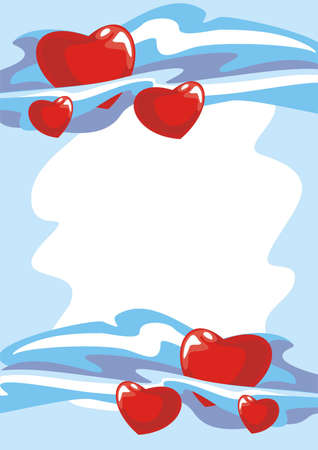 Congratulation by day in love Illustration