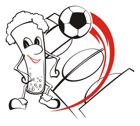Registration for football equipment of the fans Illustration
